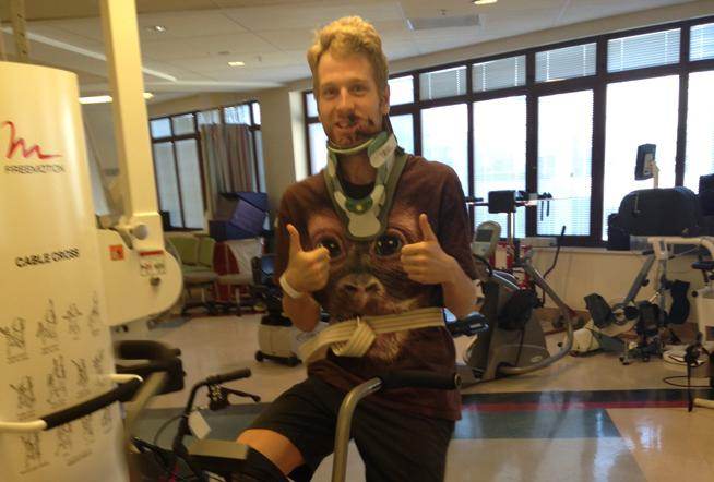 ian crane recovering from an accident at the pro cycle challenge. photo provided by ian crane.